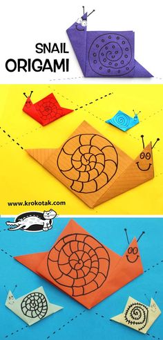 origami snail