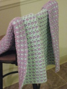 Two Sided Baby Blanket - free pattern from Ravelry .... Look! I found my blanket on Pinterest!!!