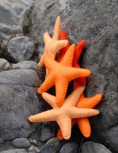 How To: Make a Felt Starfish | Natural Kids Team Orange You Glad, Orange Is The New, Orange Gris, Orange Color, Orange Fabric, Starfish Template, How To Make Sand, Diy Accessoires, Do It Yourself Wedding