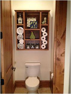 Wood Shadow Box Bathroom Organizer