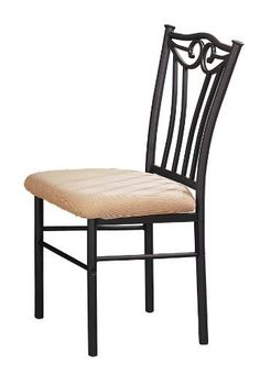 Poundex Shannon Series Dining Chair in Charcoal Iron Finish European Style, Set of 2 by Poundex. $91.96. French inspired design; tubular carcoal iron finish. Ease on assembly. 1-year limited warranty. French inspired, this dining room set is simple in design but offers any home the delights of European style. Its tubular charcoal iron finish chair, table base and wine rack enhance the round medium oak table giving it the flair of a French café.