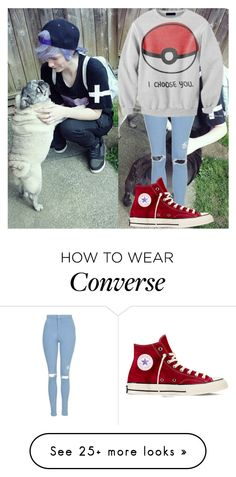 """""""Saturday//Oliver//TFRP"""" by weaboo-babe-rp on Polyvore featuring Topshop, Converse and TexasForever"""
