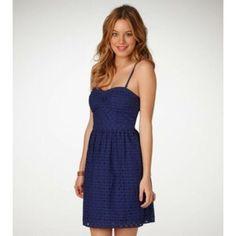 0b1991b2275a American Eagle Eyelet Strapless Dress Purple Dress