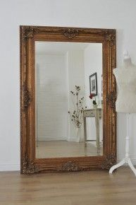 Large Gold Antique Ornate Wall Mounted Mirror 6Ft2 X 4Ft2, 188cm X 127cm £469.99