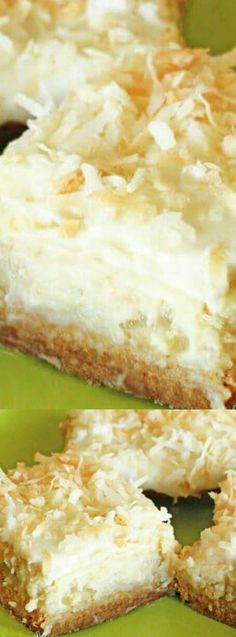 These Coconut Lime Cheesecake Bars from Favorite Family Recipes are truly heavenly —  or maybe we should say sinful!