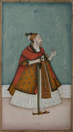 www.IndianMiniaturePaintings.co.uk - Indian miniature painting: folio probably from an illustrated history of Golconda and Hyderabad: the la...