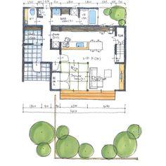 . 【ボツプラン339】 リビングドアは外開きがいいんやないかな。 . 和室とリビングを、戸を全開にして一体で使おうとしてもソファーで分断されるけど、これはいいんやろうか? . 脱衣場と2階トイレの窓は、横滑り出しの方が使いやすいと思うよ。 . . . #collabohouse #コラボハウス #間取り #間取り図 #設計図 #設計士 #設計士とつくる家 #住宅 #住宅設計 #自由設計 #住宅間取り #住宅外観 #住宅デザイン #デザイン住宅 #注文住宅 #新築 #新築一戸建て #インテリア #家づくり #myhome #マイホーム #リビング #livingroom #ボツプラン Floor Plans, Diagram, House Design, Flooring, How To Plan, Architecture, Home, Arquitetura, Rendering Techniques