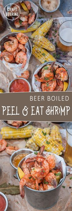 Beer Boiled Peel and Eat Shrimp. A classic. Enjoy delicious peel and eat shrimp boiled in a savory broth with beer.