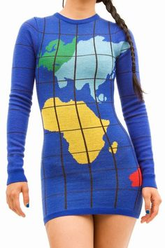 Map sweater.