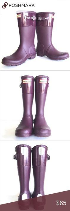 ⬇Price Drop⬇Kids Hunter Boots in Plum Kids Hunter Boots in Plum, Size 3G, Some scuff marks as shown in pictures, smoke free home. Please let me know if you need any measurements. I'd be happy to provide for you. Also (📦Shipping weight with these are 3.5lbs📦) Hunter Shoes Rain & Snow Boots