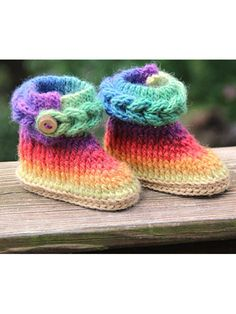 Crochet - Patterns for Children & Babies - Accessory Patterns - Knit-Look Braid Stitch Boots - Baby