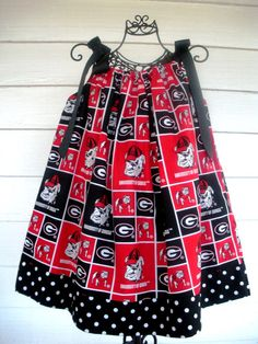 I like this too...but plain black across the bottom.  University of Georgia Pillowcase Dress 18 Month by LulamaesThings, $20.00