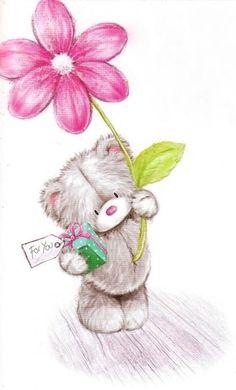 Florynda del Sol ღ☀¨✿ ¸.ღ Anche gli Orsetti hanno un'anima…♥ Tatty Teddy, Cute Animal Drawings, Cute Drawings, Bear Pictures, Cute Pictures, Blue Nose Friends, Bear Graphic, Baby Painting, Cute Clipart