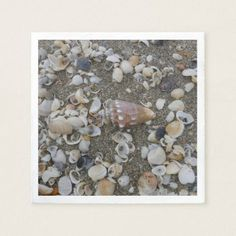 Conch Seashell On The Beach Paper Napkin - home gifts ideas decor special unique custom individual customized individualized