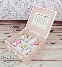 Pudełko z baletnicą - prezent na chrzciny dla Amelki