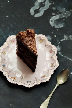 {Chocolate and Nutella layer cake.}