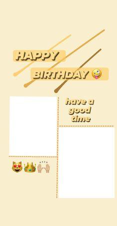 Happy Birthday Template, Happy Birthday Frame, Happy Birthday Posters, Happy Birthday Wallpaper, Happy Birthday Wishes Cards, Birthday Posts, Birthday Frames, Birthday Wishes Quotes, Birthday Captions Instagram