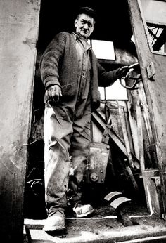 """John Claridge - Crane Driver, E16 (1975) - """"He could balance a crushed car on half a crown and still give you change."""""""