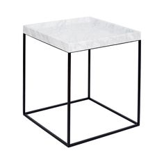 """""""The Tray Tables"""" are part of the Urban Couture range and consist of your choice between a white Italian Carrara and black marble tray top on a black or white powder coated steel base. As the name suggests, the tray tops are floating and can be removed from the base and used as a tray, whilst the"""