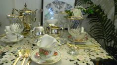 Four Friends for Tea! The perfect set for an elegant tea party anytime.