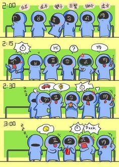 十二星座等公車 (下)  12 horoscope signs waiting for the bus (2)