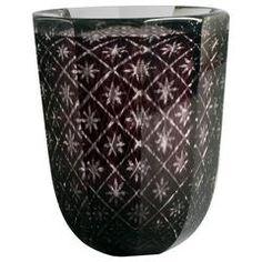 """Faceted """"Graal"""" Vase by Edward Hald for Orrefors"""