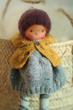 Waldorf doll Knitted doll Helena 13 rag by PeperudaKnittedDolls