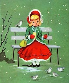 Old Christmas Post Cards — Vintage  (736×878)
