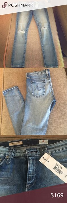 AG distressed super skinny legging in 18Y Rip-SOLD The Legging ankle. NWT 98% cotton and 2% polyurethane AG Adriano Goldschmied Jeans Skinny