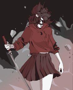 Doodle (Fram) by Wolf-Fram - Art - Anime Illustration Design Graphique, Japon Illustration, Botanical Illustration, Manga Girl, Anime Art Girl, Pretty Art, Cute Art, Character Design Inspiration, Animes Wallpapers