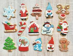New year christmass cookies snowman santa elf raindeer snowglobe snowman