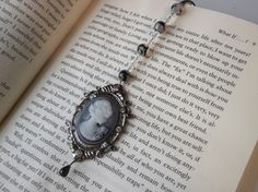 Stunning OOAK Black Agate with Cameo and by SerendipityWorld, $15.00