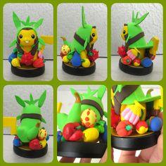 Chespin pikachu custom amiibo