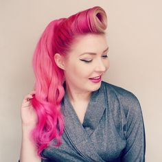 Nice pink ponytail style~ Let our ponytail extensions to help you make a longer and fuller look