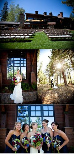 Truckee, Nevada. {The bride & groom's mothers arranged the bouquets! Stunning!}