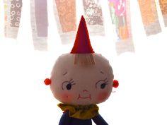 Cloth rag doll, yoyo baby by Jess Quinn