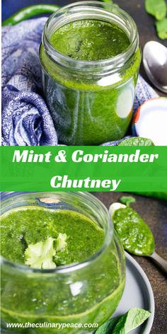 Easy to prep and quick to make mint and coriander dip or chutney to go as an accompaniment to all North Indian dishes and appetizers. Make and store for a short while. North Indian Recipes, Indian Food Recipes, Vegetarian Recipes, Healthy Recipes, Garlic Recipes, Coriander Chutney Recipe, Chutney Recipes, Mint Recipes, Lunch Box Recipes