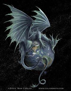 Realismo y Fantasía...Earth Dragon, de Rob Carlos...preciosísimo.