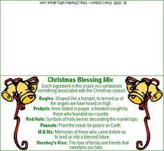 Christmas Blessing Snack Printable Bag Gift Tag