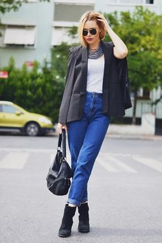 Buy Split Sleeve Angled Hem Cape Blazer at Style Moi