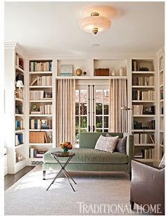 LOVE this home library.