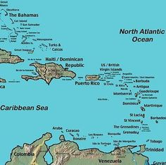 Map Of The Caribbean Showing The Position Of Barbados Maps - Map of the carribean