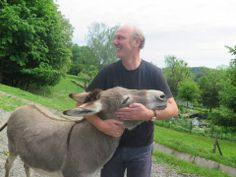 Josef Zotter with his donkey Mona, or was ist Lisa! Donkey, Lisa, Animals, Animales, Animaux, Donkeys, Animal, Animais