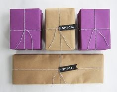 so simple and cute #purple #packaging