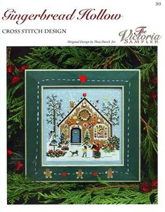 Straight Stitch, Back Stitch, Gingerbread Village, Make A Snowman, Beading Needles, Christmas Embroidery, Small Heart, Pdf Patterns, Family Dogs
