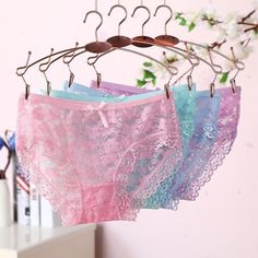 e5897f7e75 2017 Lace Panties sexy women underpants transparent Hollow female underwear  Floral Briefs Comfortable ropa interior femenina