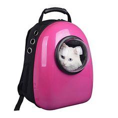 Amazon.com : Astronaut Capsule Pet Backpack Transparent Breathable Dog Cat Carrier Travel Bag (Green) : Pet Supplies