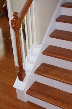 Oak Stair Treads And White Risers Hardwood Stairs Painted Stair | Oak Stairs With White Risers | Natural | Red Oak | Character | Hardwood | Dark Walnut Staircase
