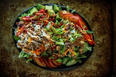 Nectarine+Ginger+Sesame+Chicken+Salad