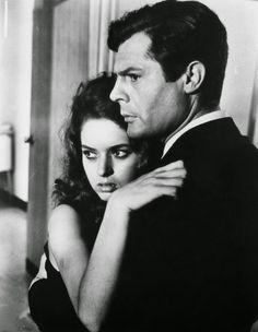 Maria Pia Luzi and Marcello Mastroianni in La notte directed by Michelangelo Antonioni, 1961